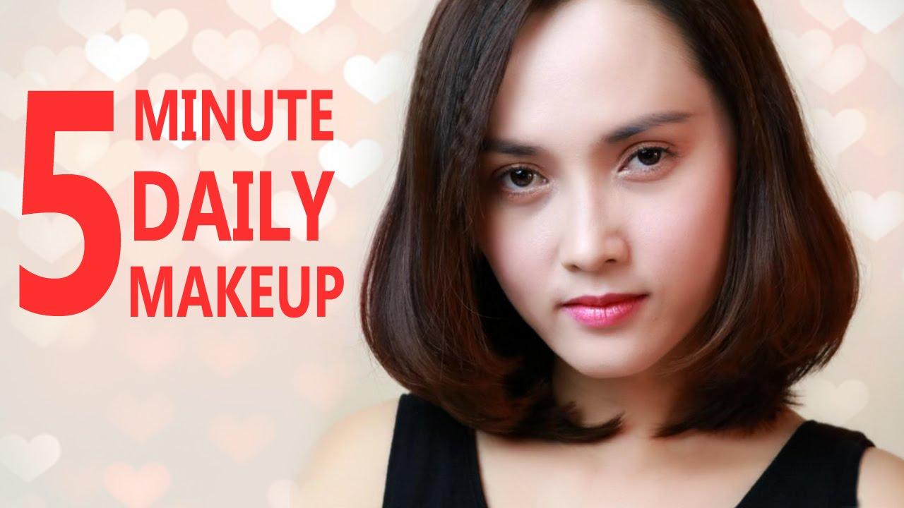 5 phút trang điểm đi làm hằng ngày – 5 Minute Daily Makeup Routine – Halady Makeup
