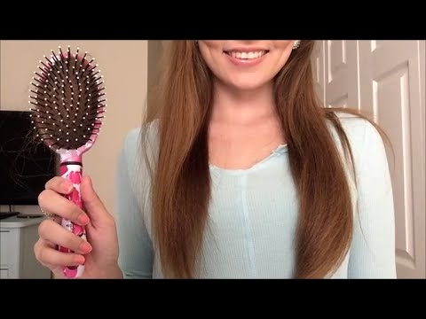 ASMR LONG HAIR Brushing and Hair Play - YouTube