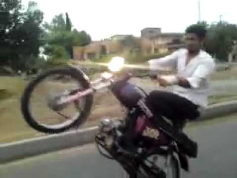 Bike Wheeling Ka Injaam Wheel Accident Watch Video Youtube