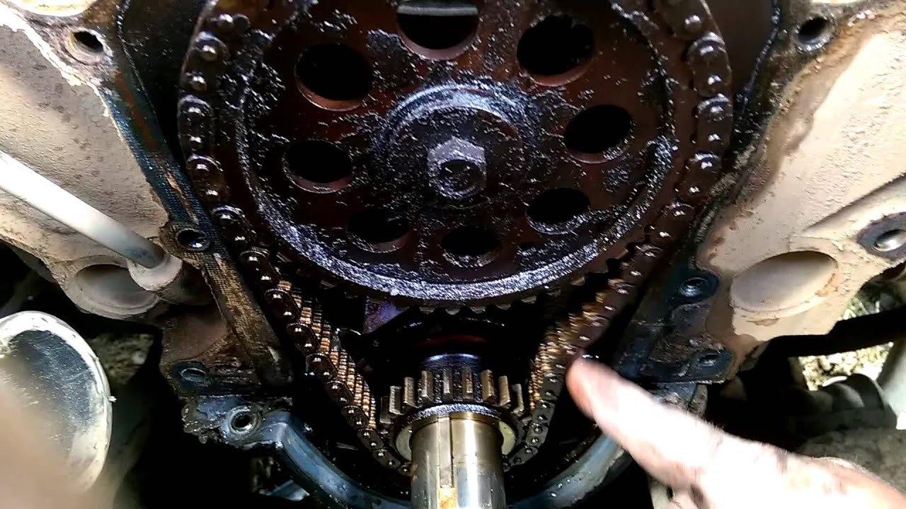 1999 Dodge Durango 5 9 Timing Chain Before Repair Youtube