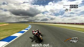 MotoGP 08 - XBOX 360. Phillip Island Fast lap. 2014 [HD]