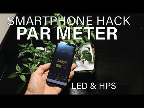 Light Lux Meter App To PAR Meter Hack | Android Smartphone PAR Meter Hack