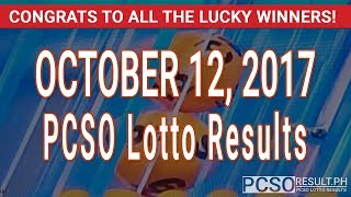 PCSO Lotto Results Today October 12, 2017 (6/49, 6/42, 6D, Swertres & EZ2)