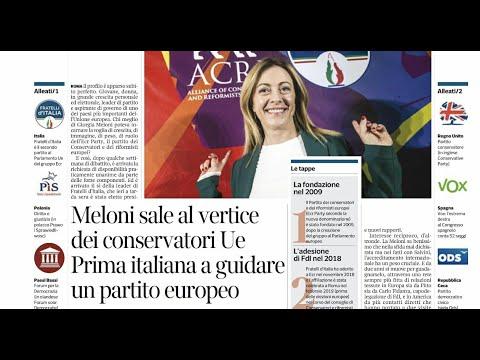 Giorgia Meloni: Eletta presidente dei conservatori europei! Seguitemi ora in diretta dal Senato