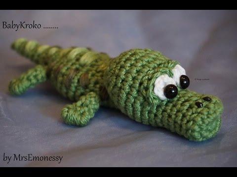 DIY Häkeln Baby Krokodil so süß - YouTube