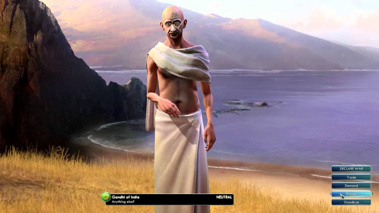 Civilization V Leader | Gandhi Of India   YouTube