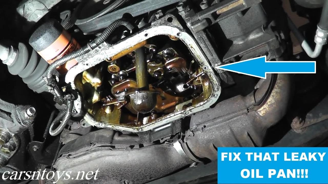 Oil Pan Gasket Replacement with Basic Hand Tools - YouTube