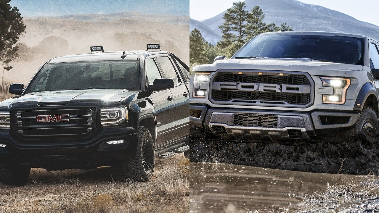 Gmc Sierra Vs Ford F 150 Trucks >> 2016 Gmc Sierra All Terrain X Vs 2017 Ford F 150 Raptor Youtube