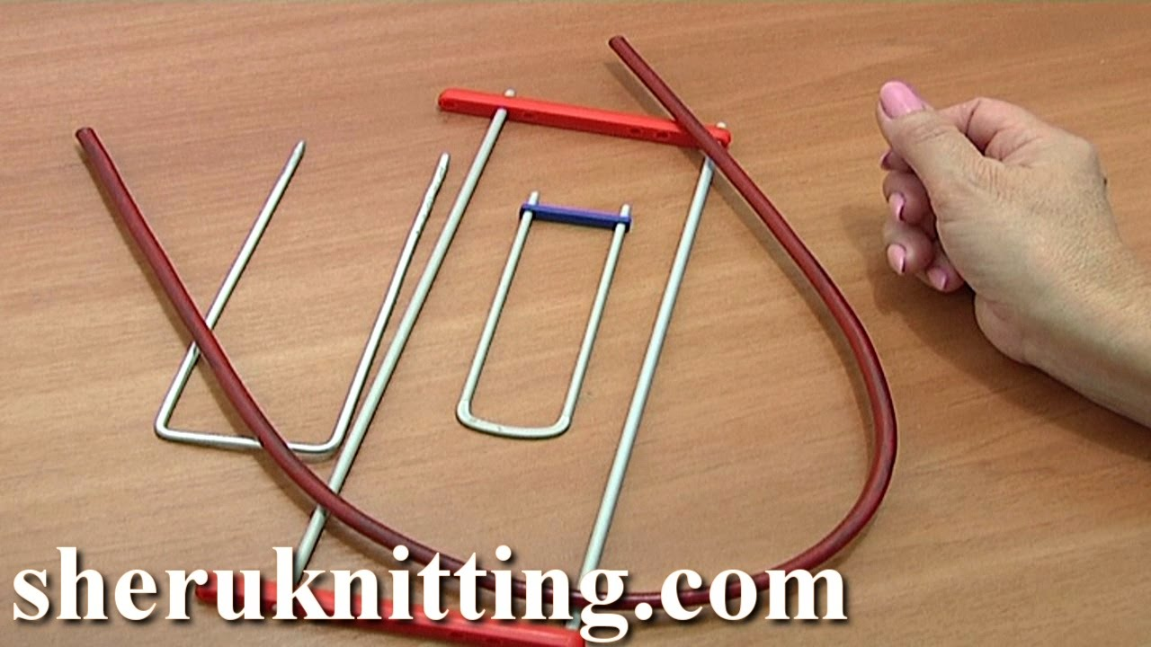 Crocheting Tools : Hairpin Lace Crochet Tools Tutorial 1 Hairpin Lace Loom Bent Fork ...