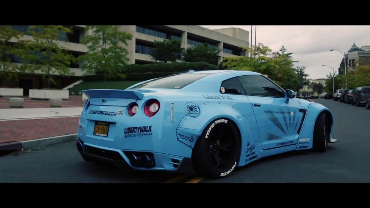 1 of 1 sora gt r r35 armytrix exhaust liberty walk forgiato by nyc motoring. Black Bedroom Furniture Sets. Home Design Ideas