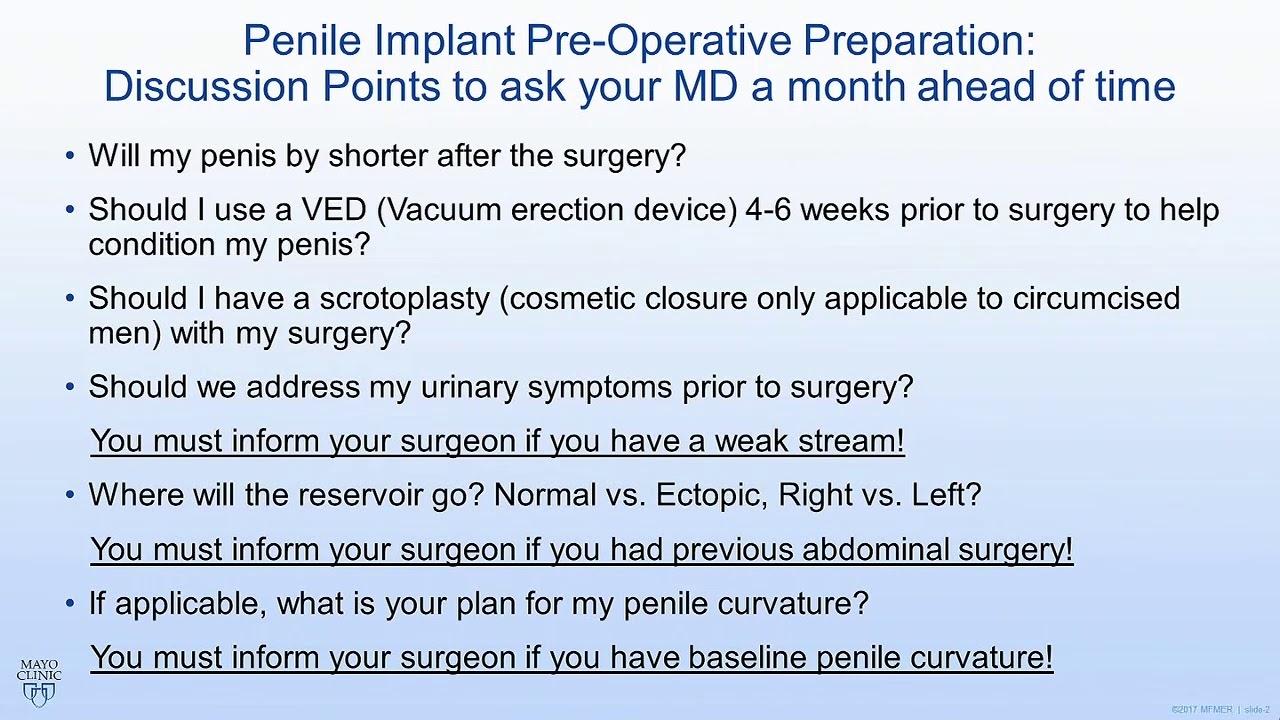 mayo men u2019s health moment  penile implant pre