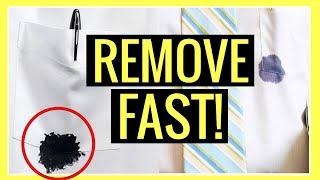 HOW TO REMOVE IΝK STAINS from CLOTHES & FABRIC!! (Laundry Hacks) | Andrea Jean