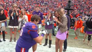 Repeat youtube video Clemson football player proposes on 2015 Senior Day - Part 1