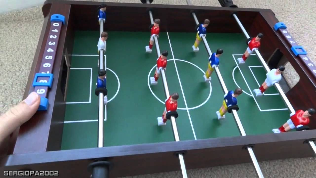 Holiday Gift Ideas: Inexpensive Table Top Foosball Soccer Board Game Review    YouTube