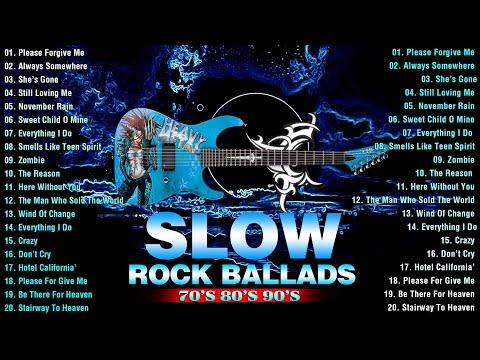 Slow Rock Remix 📻 Scorpions, Bon Jovi, GNR , Aerosmith, U2, Led Zeppelin - What I Call Power Ballads