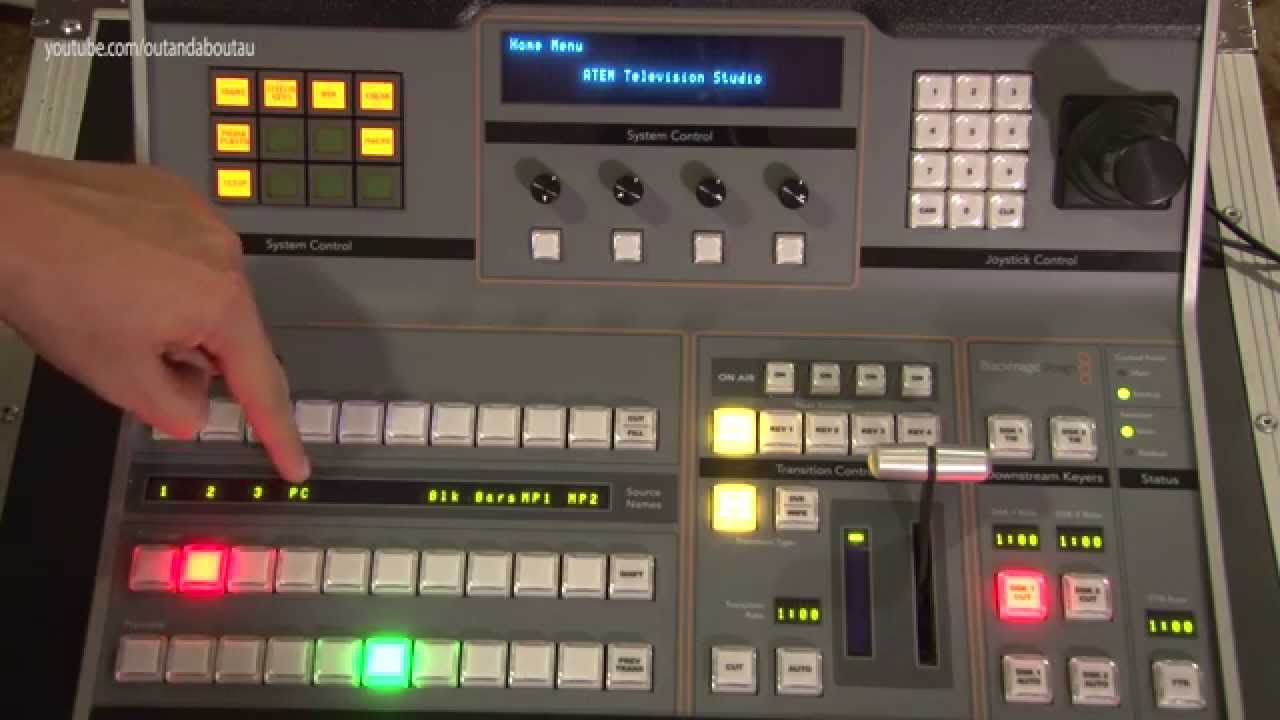Blackmagic Design Atem 1 M E Hardware Control Broadcast Panel Youtube
