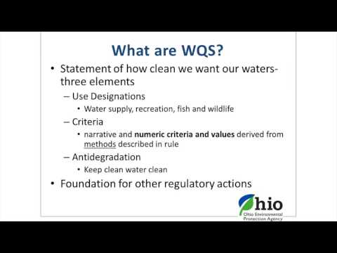 Ohio EPA Water Quality Standards Triennial Review