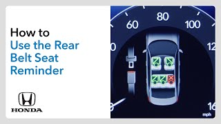 homepage tile video photo for How to Use the Rear Seat Belt Reminder