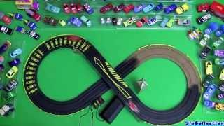Cars 2 London City Raceway Slot Car Racing Track Speedway Mcqueen Vs. Francesco Disney Pixar