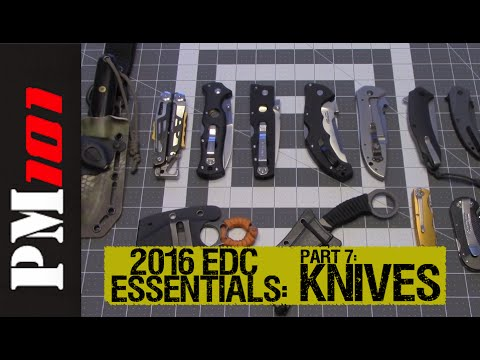 2016 EDC Essentials PT 7:  EDC Knives  - Preparedmind101