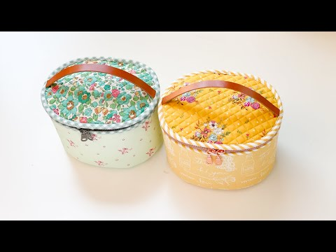 Oval Sewing Case | Zippered Pouch | Round Sewing Bag