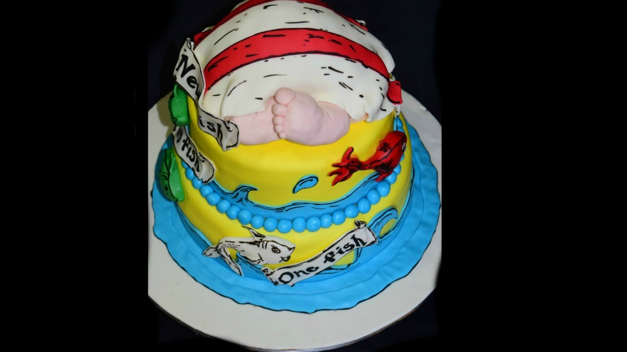 Dr Seuss Baby Shower Cake Pastel Para Baby Shower Youtube