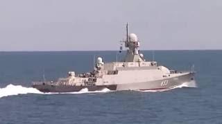 Корабли ударной группы на учениях  Кавказ 2016