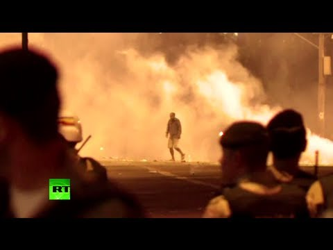 Storm in World Cup: Clashes continue in Brazil with tear gas & rubber bullets