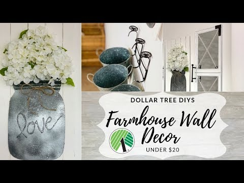 Dollar Tree DIY Farmhouse Wall Decor Under $20!!! 🤩