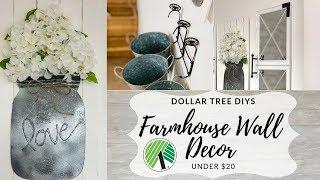 Dollar Tree DIY Farmhouse Wall Decor Under $20!!! 🤩