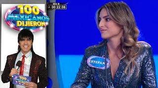 ¡Estefanía Ahumada hace escena de celos al Vítor! | 100 Mexicanos dijieron | Las Estrellas