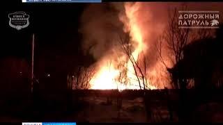 В Ачинске сгорела пилорама