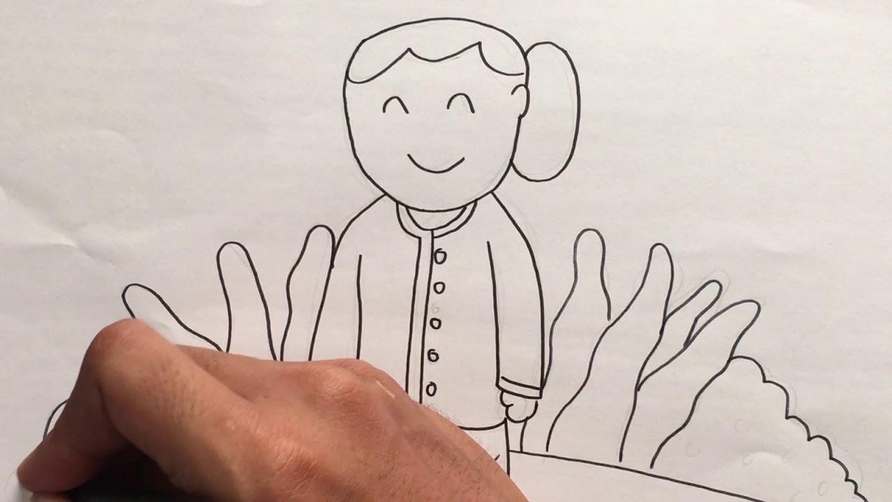 Menggambar & Mewarnai Tema Ibu Kita Kartini untuk Anak - YouTube