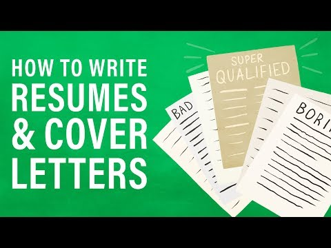 How To Write A Great Resume And Cover Letter