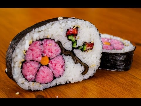 How to Make Flower Sushi Art - Amazing Food Recipe