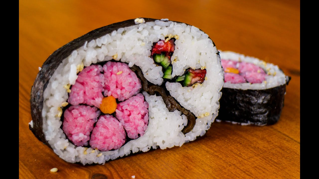 How To Make Flower Sushi Art Amazing Food Recipe Youtube