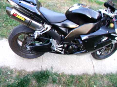 2006 zx10r full akrapovic exhaust mean youtube. Black Bedroom Furniture Sets. Home Design Ideas