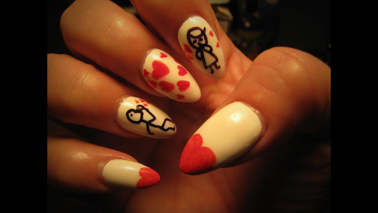 Stick figure nail art tutorial youtube stick figure nail art tutorial prinsesfo Gallery