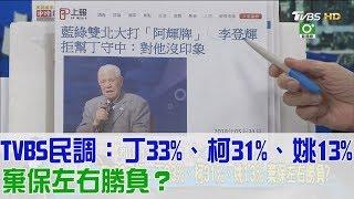 【完整版下集】TVBS民調:丁守中33%、柯文哲31%、姚文智13%!棄保左右勝負?少康戰情室 20180601