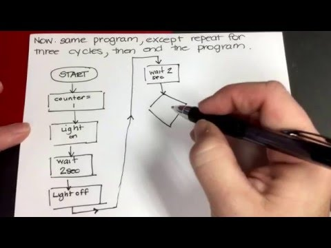Programming Basics: Creating an algorithm/flowchart and then adding a counter.