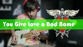 Bon Jovi You Give Love a Bad Name Tutorial Solo Gitar Enak Banget