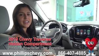 2019 Chevy Traverse Hidden Compartment at Phillips Chevrolet