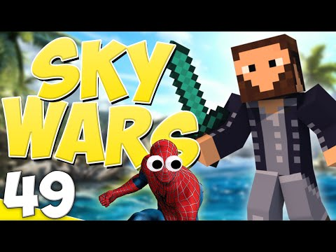 """Minecraft Sky Wars: Game 49! """"Googly Spider-Man!"""" w/Blitzwinger & Athix"""