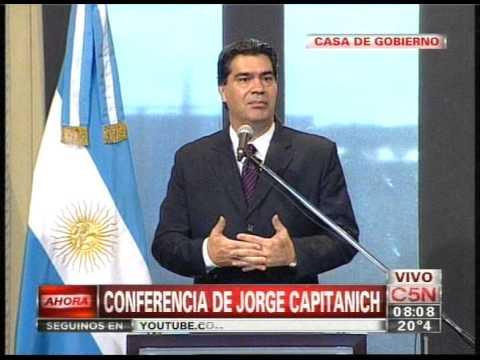 C5n Politica Conferencia De Prensa De Jorge Capitanich