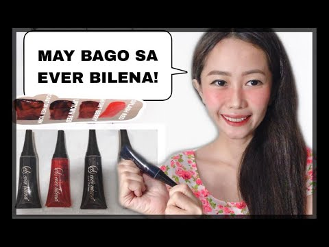 EVER BILENA CHEEK AND LIP STAIN REVIEW!!(2019)  all four (4) shades Lip and cheek tint (BET)