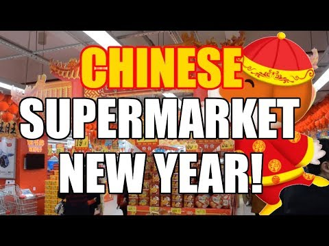 CHINESE SUPERMARKET DURING FOR CHINESE NEW YEAR! (SPRING FESTIVAL) [China Au Pair Vlog #55]