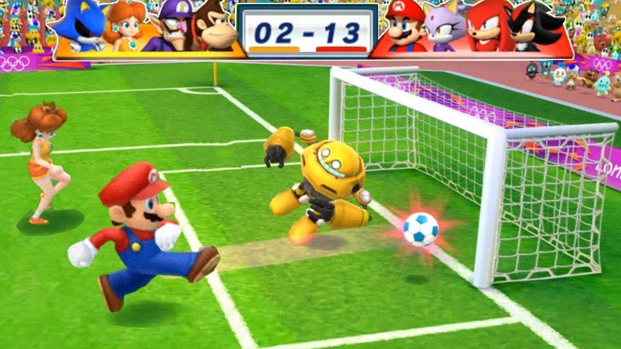 Mario & Sonic At The London 2012 Olympic Games Football #184 Mario, Blaze, Knuckles, Shadow