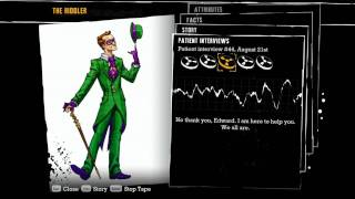 """Batman: Arkham Asylum"", all voiced interview tapes of Riddler"