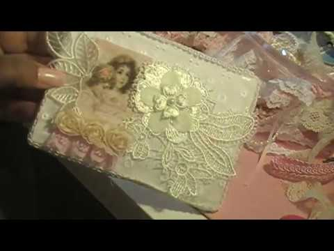 Another Shabby Chic Fabric Postcard from Liza's Craft Shop Part 1