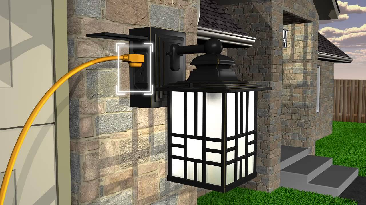 Outdoor Lighting With Outlet Lighting Ideas